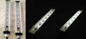 Encapsulant Fill Route for Water Tight Linear Fixture (GS Extrusion)