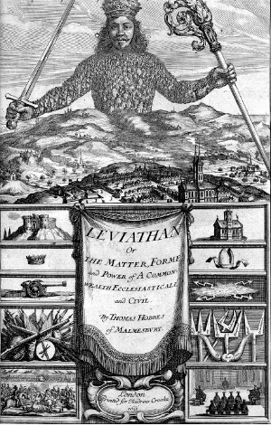Fig 10. Cover of Thomas Hobbes classic Leviathan showing the concept of superorganism Source: Hobbes, 1651
