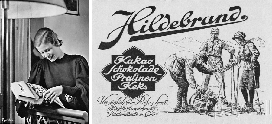 Fig 4. Popular 1930s German chocolate brand Hildebrand laced with crystal meth Source: Ohler, 2015