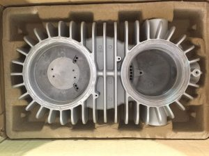 Image 2: Aluminum housing of an explosion proof light fixture